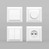Switches and sockets Royalty Free Stock Photo