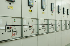 Switchgear in the electrical room Stock Photography