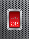Switching from 2012 to 2013. Switching from year 2012 to year 2013 stock illustration
