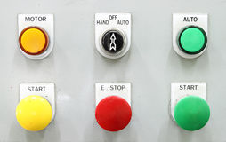Switching button control panel Stock Image