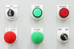 Switching button control panel Royalty Free Stock Photo