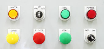 Switching button control panel Stock Images