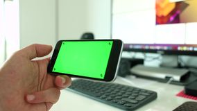 Switching screens on smart phone Royalty Free Stock Images