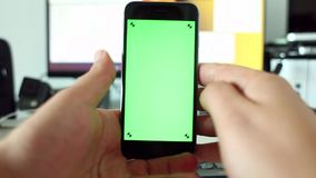 Switching screens on smart phone stock video