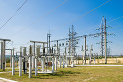 Switching substation Stock Image