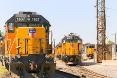 Switching of Trains Royalty Free Stock Image