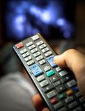 Switching TV channels Stock Photos