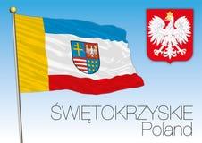 Switokrzyskie regional flag, Poland Royalty Free Stock Image
