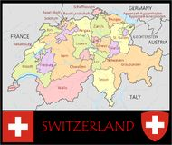 Switzerland Administrative divisions Royalty Free Stock Images