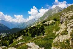 Switzerland alps. Summer day in Swiss alps stock photos