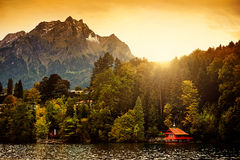 Switzerland Alps Sunrise stock photography