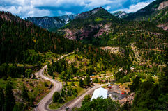 Switzerland of America Southwest Colorado Windy Road Royalty Free Stock Photography