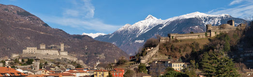 Switzerland, Bellinzona castles Stock Photo