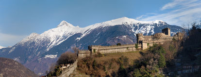 Switzerland, Bellinzona castles Royalty Free Stock Photography
