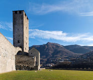 Switzerland, Bellinzona castles Stock Photography
