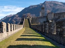 Switzerland, Bellinzona castles Royalty Free Stock Photo