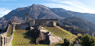 Switzerland, Bellinzona castles Royalty Free Stock Images