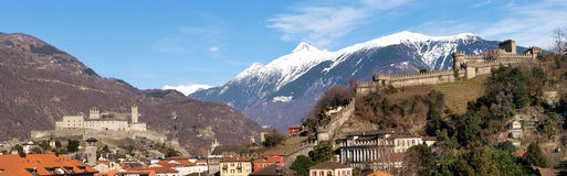 Switzerland, Bellinzona castles Stock Image