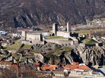 Switzerland, Bellinzona castles Royalty Free Stock Photos