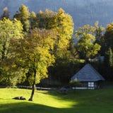 Open air museum Ballenberg in Switzerland stock image