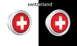 Switzerland button Stock Photography