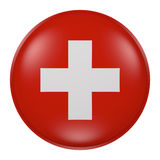 Switzerland button Royalty Free Stock Photos