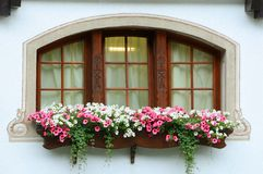 Switzerland Chalet window Stock Photo