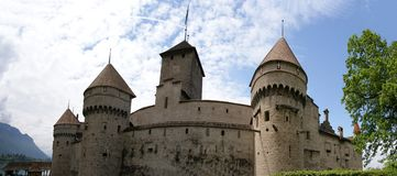 Switzerland - Chateau de Chillon on the lake Leman Royalty Free Stock Photography