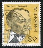 Blaise Cendrars. SWITZERLAND - CIRCA 1990: stamp printed by Switzerland, shows Blaise Cendrars, circa 1990 Stock Image