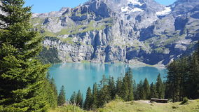 Switzerland clean lake Royalty Free Stock Image