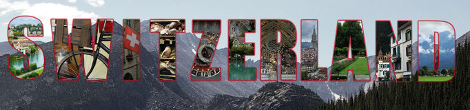Switzerland collage concept Stock Photo