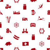 Switzerland country theme icons seamless pattern Royalty Free Stock Photos