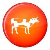 Switzerland cow icon, flat style Royalty Free Stock Photos