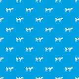 Switzerland cow pattern seamless blue Stock Images