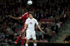 Switzerland - Denmark (UEFA Under21) Stock Image