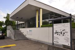 Switzerland: The entrance of the Swiss Epilepsy clinic in Zürich City Seefeld royalty free stock photos
