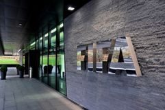 Switzerland: The FIFA-Headquarter in Zürich reflects power and royalty free stock photography
