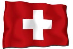 Switzerland Flag. The three-dimensional image. Switzerland. National Flag stock illustration