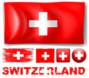 Switzerland flag in different designs Stock Photos