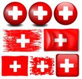 Switzerland flag on different items Stock Image