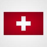 Switzerland flag on a gray background. Vector illustration Royalty Free Stock Photo