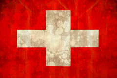 Switzerland flag in grunge effect Royalty Free Stock Photos