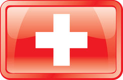 Switzerland Flag Icon Stock Images