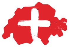 Switzerland Flag. This image is a vector illustration and can be scaled to any size without loss of resolution Stock Photography