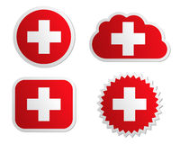 Switzerland flag labels Stock Images