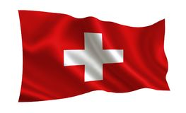 Switzerland flag. A series of `Flags of the world.`   The country - Switzerland flag. Switzerland flag.  A series of `Flags of the world.`  The country Royalty Free Stock Photography