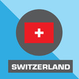 Switzerland flag vector Royalty Free Stock Images