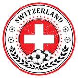 Switzerland football label / sticker Stock Image