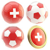 Switzerland football team attributes isolated Stock Image