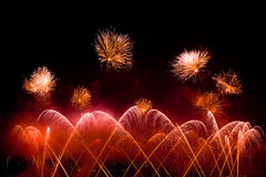 Switzerland - Geneva  fireworks Royalty Free Stock Photography